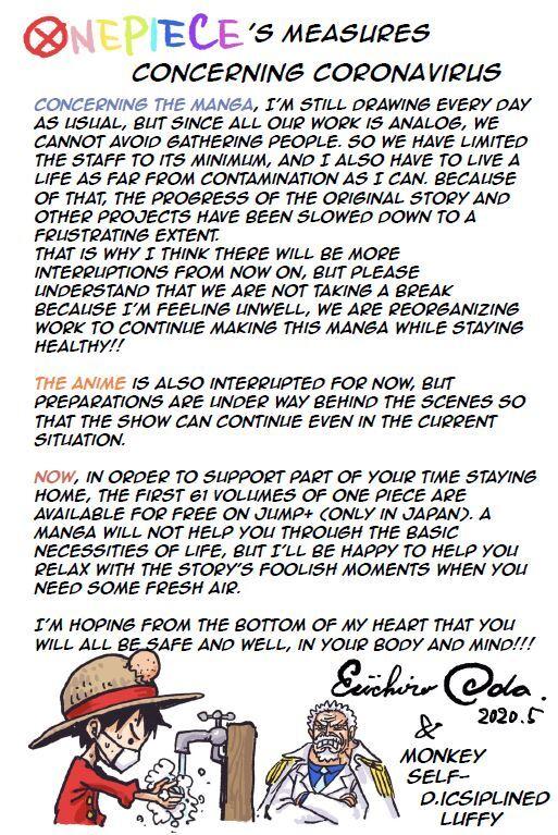 Oda sensei message